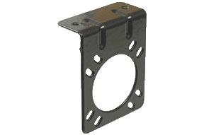 7-way Plug Mounting Bracket - Black - POL 12711