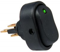 LED - Green Rocker Switch - PTM V5587