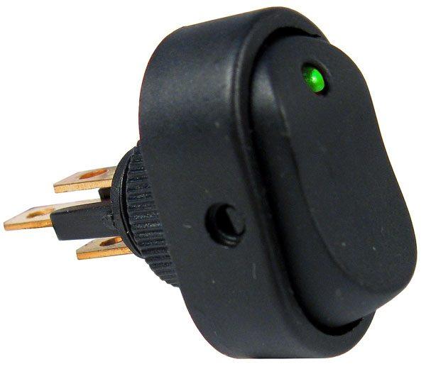LED - Green Rocker Switch - PTM V5587