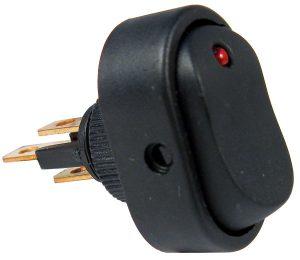 LED - Red Rocker Switch - PTM V5584