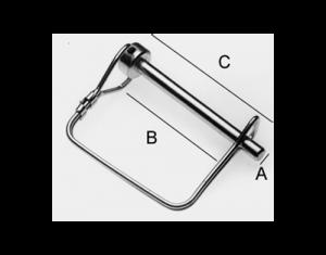 "Square Quick Connect Pin 3/8"" - BHI KL382"