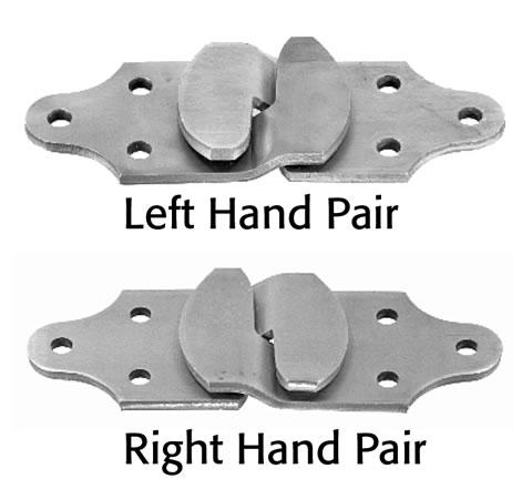 Connector Set - Straight Stake Rack - Zinc