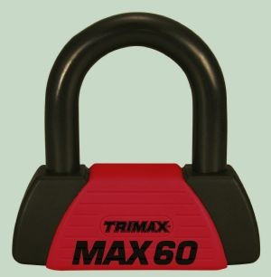 Red U-Lock - Motorcycle Cable - TRI MAX-60