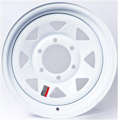 """12"""" White Spoke Wheel - W124440WS"""