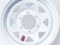 "12"" White Spoke Wheel - W124545WS"