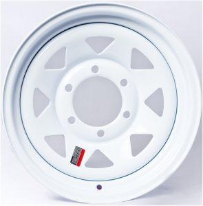 """12"""" White Spoke Wheel - W124545WS"""