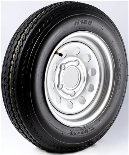 "12"" Galvanized Wheel/Tire - WTB124440GS480B"