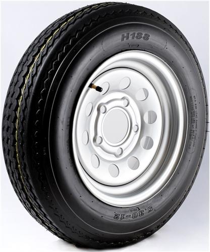 "12"" Galvanized Wheel/Tire - WTB124545GS480B"
