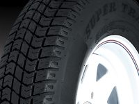 "15"" White Spoke Wheel/Tire - WTB155550WS205C"