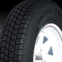 "15"" White Spoke Wheel/Tire - WTB155550WS205C"