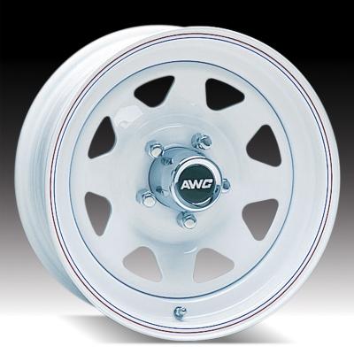 """15"""" White Spoke Wheel - W155545WS"""