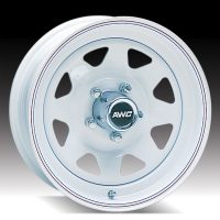"15"" White Spoke Wheel - W156550WS"