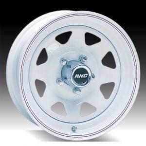 """15"""" White Spoke Wheel - W156550WS"""