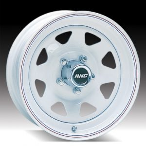 """15"""" White Spoke Wheel - W156555WS"""