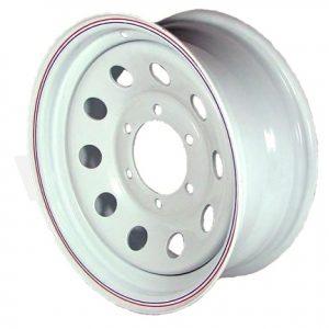 "15"" White Mod Wheel - W156655WM"