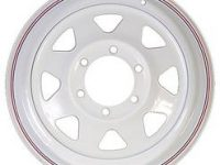 "15"" White Spoke Wheel - W156655WS"