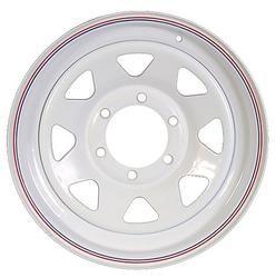 """15"""" White Spoke Wheel - W156655WS"""