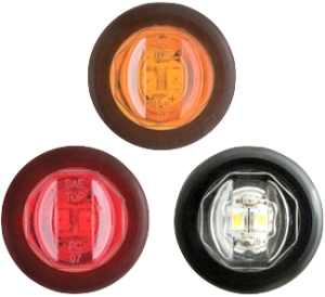 """3/4"""" Sealed Clearance Lights - MCL-11AKB / MCL-11RKB"""